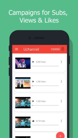 UChannel – Sub4Sub – Get subscribers, views, likes