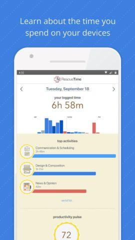 RescueTime Time Management and Digital Wellness