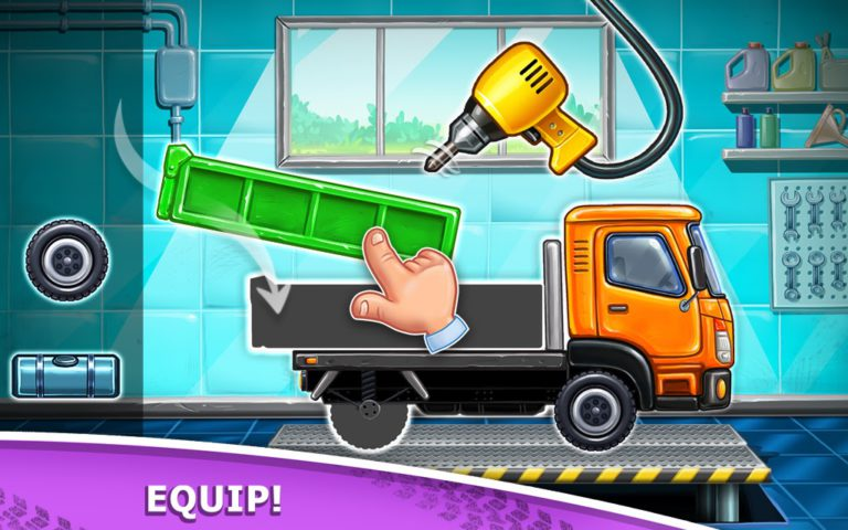 Truck games for kids – build a house, car wash
