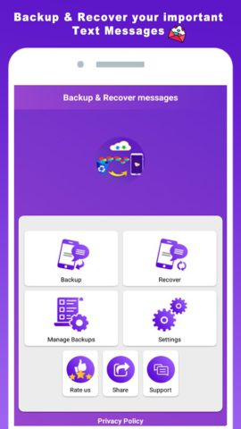 Backup & Recover deleted messages