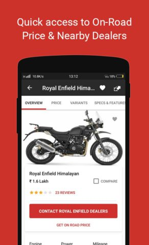 BikeDekho – New Bikes, Scooters Prices, Offers