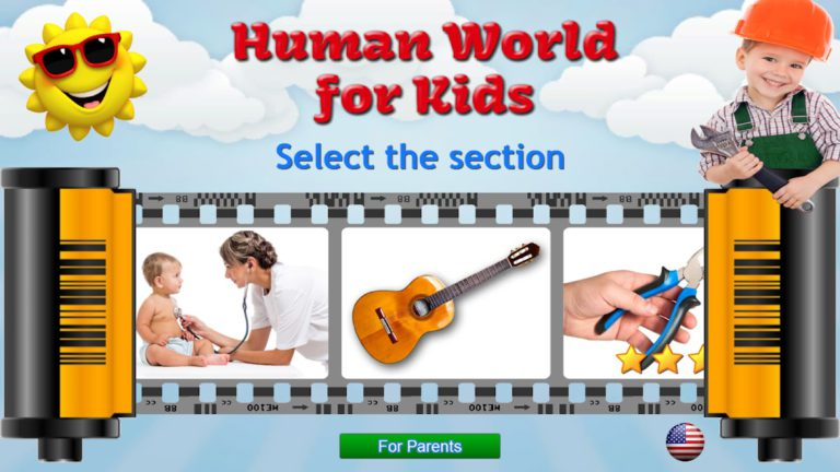 Cars, Professions, Tools – Human World for Kids