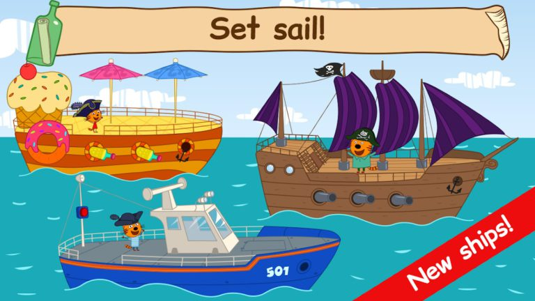 Kid-E-Cats Sea Adventure! Kitty Cat Games for Kids