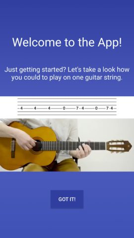 Beginner Guitar – learn one string melodies